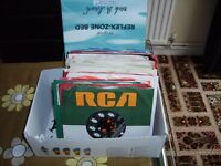 "A shoe box of 45 7"" records all well used, quite a mix"
