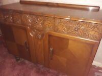 Solid Oak Wooden Sideboard Table Cupboards Hammersmith