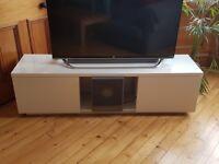 TV Bench - High gloss white