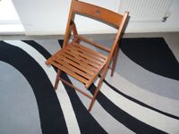 Folding wooden chairs x 3