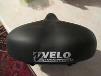 VELO UNISEX large comfortable webspring coiled bicycle seat/saddle