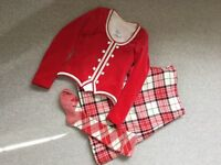 Highland dancing kilt outfit in immaculate condition, red dress McKellar, new Jan 16, hardly worn