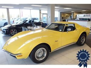 1972 Chevrolet Corvette Stingray - RWD, 3-Speed A/T, 81,000 KMs