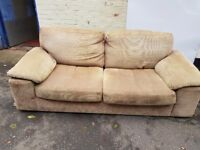 Nice fabric sofa. FREE delivery in Derby