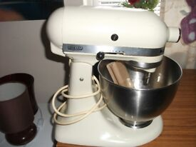 A Kitchen Aid Hobart Solid Metal Heavy Food Mixer with Bowl and Tools,Spares or Repair.