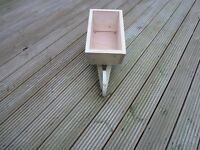 Small Wooden Wheelbarrow Planter