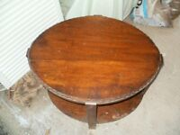 Oval shaped coffee table