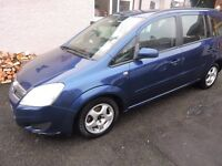 Vauxhall Zafira 2008 1.6 i 16v Exclusiv 5dr full history/7 seater