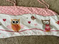Baby cot owl bumper