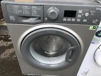 New silver Hotpoint washing machine 9 kg