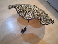 Foldable pram umbrella