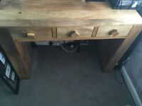 Real Oak Writing Desk