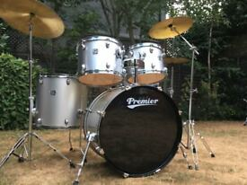 Premier Cabria Drum Kit Complete With Hardware and Cymbals - Great Evans Heads