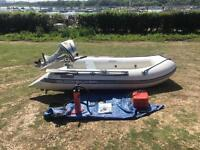 Quicksilver 3.1M Airdeck inflatable boat / dinghy - Honda 10hp 4 Four stroke outboard engine