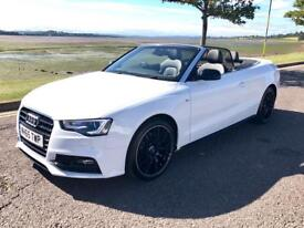 2015 White Audi A5 1.8 Petrol Convertible S Line Special Edition Manual TFSI