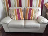 White 2seater sofa