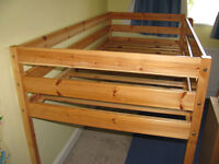 Pine Mid Sleeper Childs Single Bed Frame Only Thuka