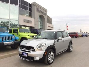 2016 MINI Cooper Countryman S, Bluetooth, Pan Roof, Leather, Cle