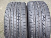 "TWO 245 40 19"" GOODYEAR 5.5mm RUN FLATS TYRES FOR ALLOYS WHEELS BMW 5 SERIES F10 M SPORT"