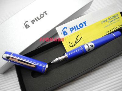 Tracking No. Pilot Fpr-3sr Prera Medium Fountain Pen Royal Blue 6 Cartridges