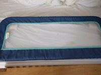 Safety first blue toddler bedguard