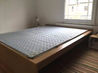 Minimal Oak Veneer Bedframe IKEA MALM 190cm x 207cm