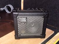 Roland Micro Cube battery street-amp, with power supply