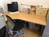 Large LHF L shape desk and chair