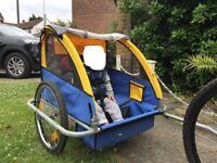 2 seater Kids bike trailer