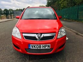 2008 VAUXHALL ZAFIRA Exclusive 1910cc Diesel AUTOMATIC 5 DOOR IN 7 SEATES With (Sports Button)