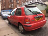 Nissan Micra 1998 - low mileage needs some welding. Great for spares and repairs!