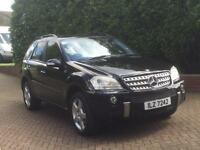 Mercedes ML320 Sport Diesel Black SAT NAV AUTO CHEAP ROAD TAX PX PX POSS !!