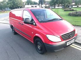 08 REG MERCEDES VITO 109 LWB 2.2 CDI HALF FRIDGE VAN DRIVES SUPERB NOT TRANSIT RELAY VIVARO TRAFIC