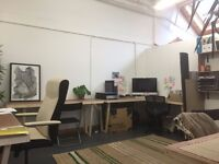 single and double desk spaces to let Hackney- £108 - £118 PM near Dalston Kingsland station