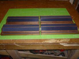 Set of 4 Dark Walnut Mah-Jong Racks