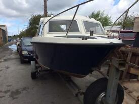 Microplus 502 project boat , good trailer