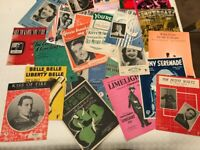 23 old sheet music for piano