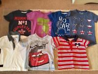 7 x Boys 18 -24 months T shirts