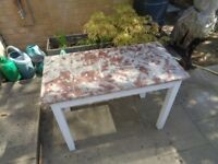 MARBLE TOP TABLE £65 MAIDSTONE