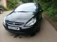 Peugeot 307, 1.6 16 V, petrol, in good condition