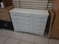 Solid white wood chest of drawers £75