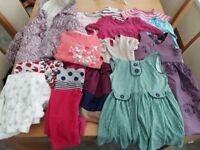 Girls bundle aged 1-2years including coat, pjs, dresses, leggings, jumper dresses.