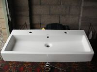 Duravit Double Sink 1000mm Wide with Chrome Waste Unit