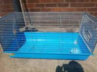 Guinea pig cage with food bowl