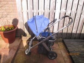 Oyster stroller plus pram seat and Britax car seat and isofix base