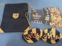 Hull City , Backpack, match day books, and side mirror covers