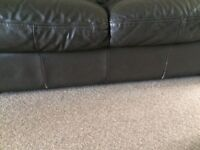 3 seater + 2 seater brown leather suite