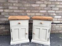 Solid pine bedside cabinets bedside tables