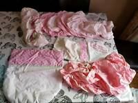 Pink Moses Basket Covers bundle mostly Mothercare excellent condition