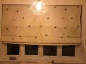 Blackout blinds pelmut and full length tracked panels